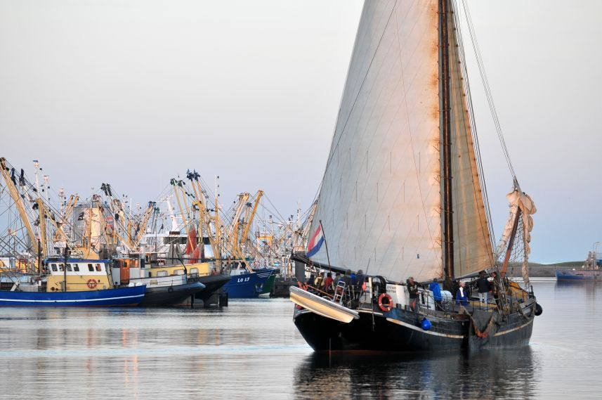 Aankomst in haven Lauwersoog in avondlicht 7